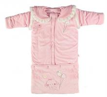 Baby detachable sleeping bag pink color-Stuffedtoy17-3